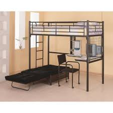 coaster bunks twin loft bunk bed with futon chair u0026 desk coaster