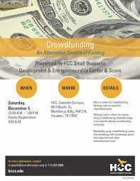 upcoming events crowdfunding u2013 an alternative source of funding
