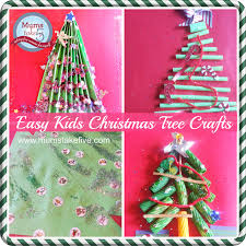 simple christmas tree crafts for young kids