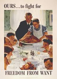 thanksgiving fight freedom from want norman rockwell wolfsonian fiu freedom