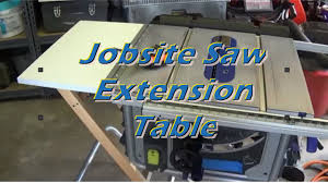dewalt table saw rip fence extension jobsite table saw extension youtube