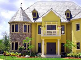 widescreen exterior house color schemes yellow wall design with