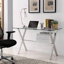 Contemporary Desk by Modern Desks Sherwood Desk W White Drawers Eurway