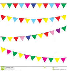 bunting and garland set festive flags vector stock vector