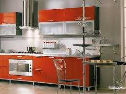 Red Kitchen Backsplash Living Kitchen Cool Small Modular Kitchen Design And Decoration
