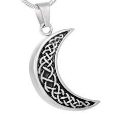 urn necklace for ashes celtic moon urn necklace for ashes johnston s cremation jewelry
