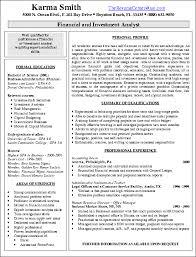 finance resume template finance resume format resume sle financial3 yralaska