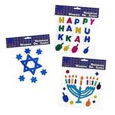 hanukkah window decorations hanukkah window clings includes 3 chanukah gel decorations happy hanuk