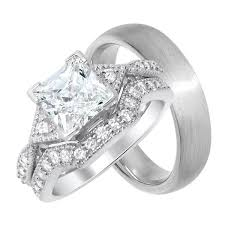 wedding ring sets cheap his and hers affordable wedding rings set looks real not cheap