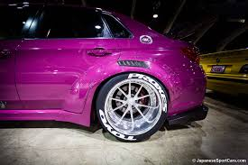 pink subaru wrx subaru wrx sti with vollkommen design widebody kit photo s