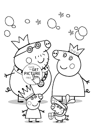 peppa pigs family coloring page within coloring pages eson me
