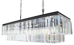 Odeon Crystal Chandelier Fringe Crystal Chandelier Transitional Chandeliers By Light