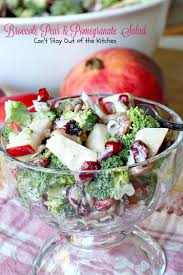 Salad Thanksgiving Broccoli Pear And Pomegranate Salad Can U0027t Stay Out Of The Kitchen