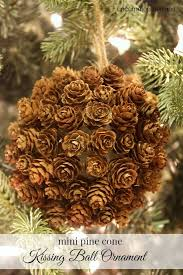 mini pine cone ornament and a giveaway