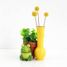 yellow vase vintage yellow ceramic vase wise apple vintage