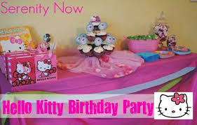 Simple Birthday Decoration Ideas At Home Serenity Now Hello Kitty Birthday Party Party At Home
