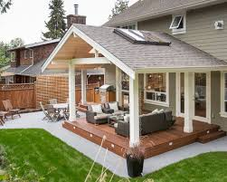 Like The Wood Over Concrete Look No Step Down Out Of House Would - Backyard patio cover designs