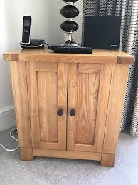 solid light oak cabinets for cd dvd storage or other in beverley