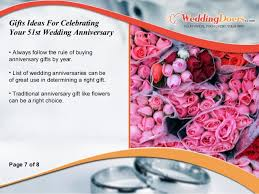 gifts ideas for celebrating your 51st wedding anniversary