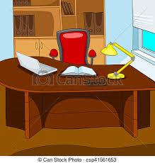 bureau dessin animé fond lieu travail bureau affaires
