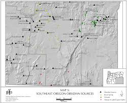 Oregon Map Usa by Obsidian Source Maps United States