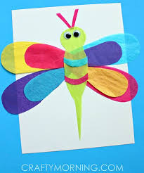 Easy Paper Craft Ideas For Kids - tissue paper crafts