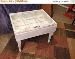 White Distressed Wood Coffee Table On Sale Wood Six 6 Pane Shadow Box End Table Shadow Box End