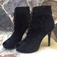 s shoes and boots size 9 sam edelman black zip peep toe shoes boots size 9 ec ebay