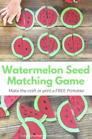 Watermelon Seed Matching Game Watermelon Crafts Matching Games