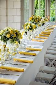 Wedding Reception Table Centerpiece Ideas by Best 20 Yellow Wedding Decor Ideas On Pinterest Brunch Table