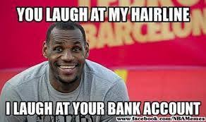 Lebron Hater Memes - 9 best memes of lebron james having hair problems sportige