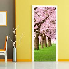 online get cheap cherry blossom murals aliexpress com alibaba group diy 3d wall sticker mural bedroom home decor poster pvc cherry blossom tree waterproof door sticker