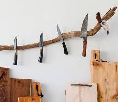 kitchen knives holder magnetic tree branch kitchen knife holder