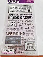 wedding scrapbook stickers sticko wedding cardmaking scrapbooking stickers ebay