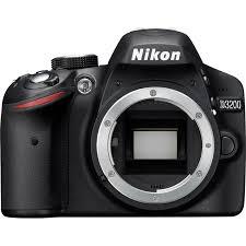 nikon d3200 digital slr camera body black factory refurbished