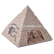sand yellow big size resin pyramid for home aquariums decoration
