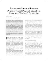 recommendations to improve primary physical education