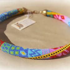 beaded cord necklace images Best handmade beaded necklace patterns products on wanelo jpg