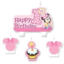 1st birthday candle minnie mouse 1st birthday candle set 4 pack party
