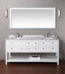 72 Inch Double Sink Bathroom Vanity by Stufurhome Marla 72 Inch Double Sink Bathroom Vanity With Mirror