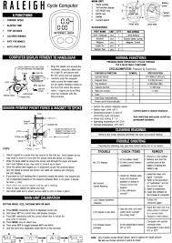 cyclometer calibration procedures ciclomaster to trek
