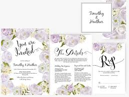 Word Template For Wedding Program Wedding Invitation Stationary Set Diy Editable Ms Word Template