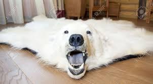 rugs faux bear skin rug white furry rug walmart faux polar