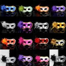 cool women side flower masquerade masks women fashion half face