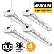 linkable led shop lights linkable 4ft led shop light bbounder 4800 lumen 5000k daylight super