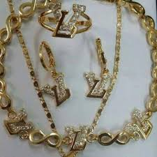 gold filled necklace set images Find more lv gold filled jewelry set for sale at up to 90 off jpeg
