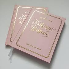 guest books blush and real gold foil wedding guest book b gregory design