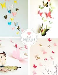 deco chambre fille papillon des papillons en papier pour décorer une chambre bébé mon bébé chéri