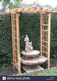 backyard water fountain stock photo royalty free image 135922086