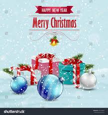 card presents ornaments vector stock vector